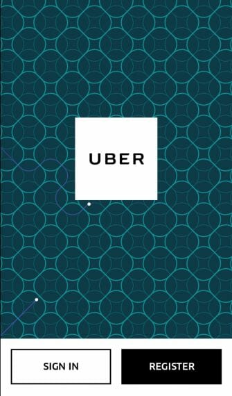 Uber Login Page Android